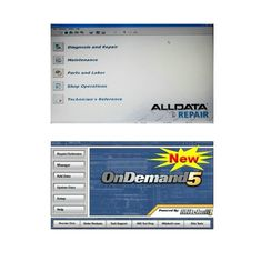 Alldata 10,50 y Mitchell Ondemand5 2 en 1 software de diagnóstico automotriz