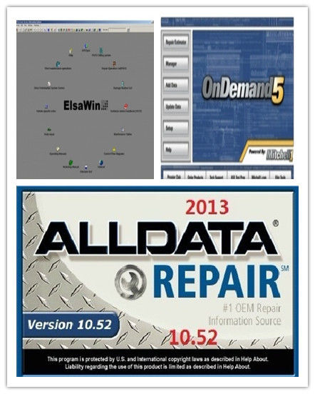 Alldata 10.52 Automotive Diagnostic Software,  Mitchell Ondemand 5